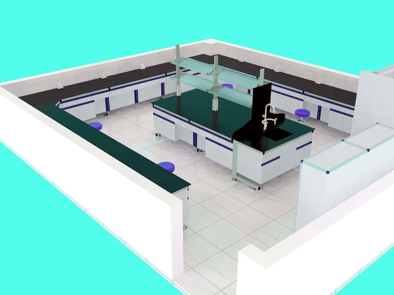 实验室内装修立体设计图